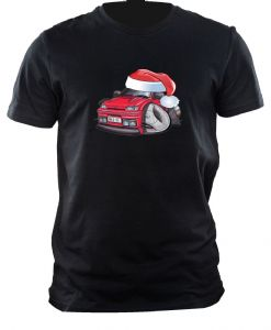 XMAS KOOLART CHRISTMAS SANTA HAT For MK3 FORD FIESTA RS TURBO RST mens or ladyfit t-shirt